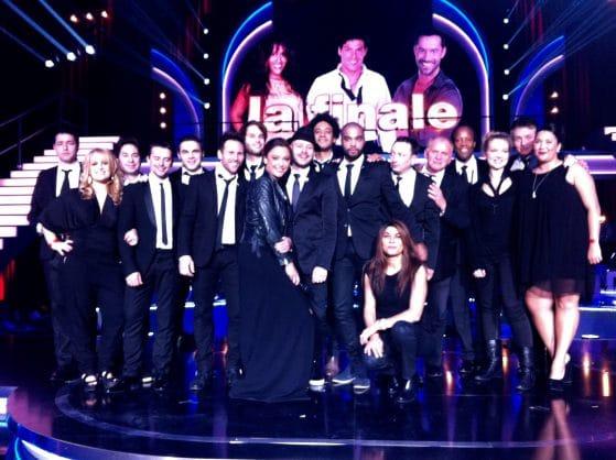 Equipe de Life Orchestra durant le plateau tv de Danse avec les Stars